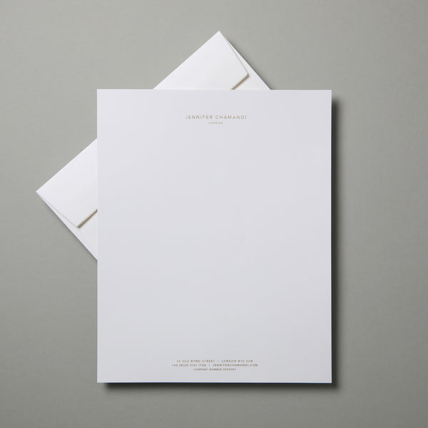 Letterhead with Header & Footer