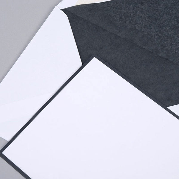 Black Border on White Correspondence Cards