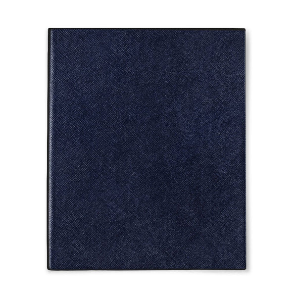 Midnight Blue Leather Notebook - Personalised