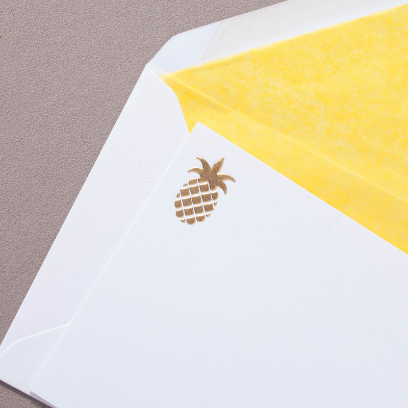 Pineapple Correspondence Cards