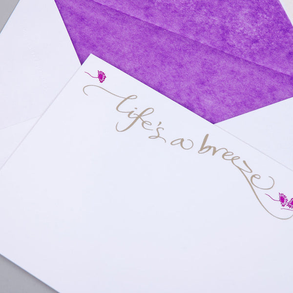 Life's a breeze Correspondence Cards