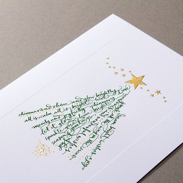 Calligraphic Christmas Tree Cards