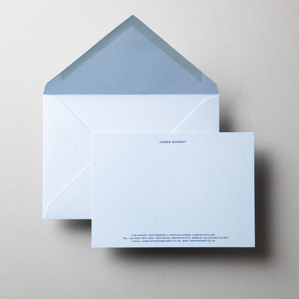 Engraved Correspondence Card Header and Footer