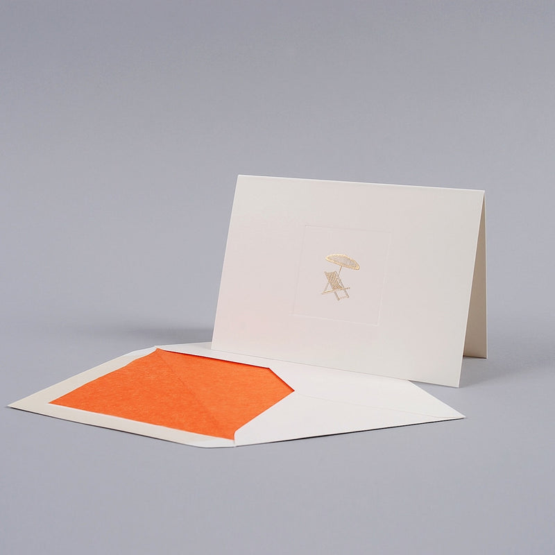 Deck Chair and Umbrella Correspondence Cards