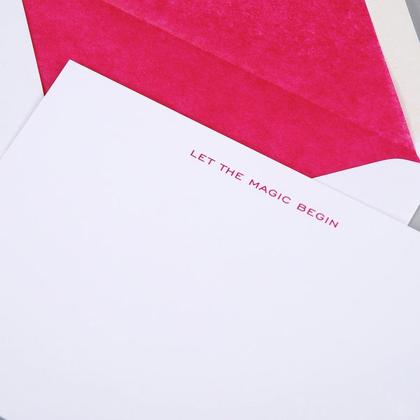 Let the Magic Begin Correspondence Cards