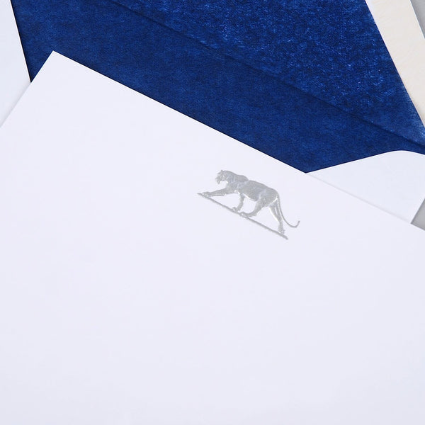 Panther Silver Correspondence Cards
