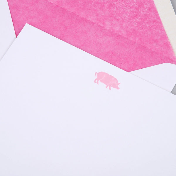 Pig Pink Correspondence Cards
