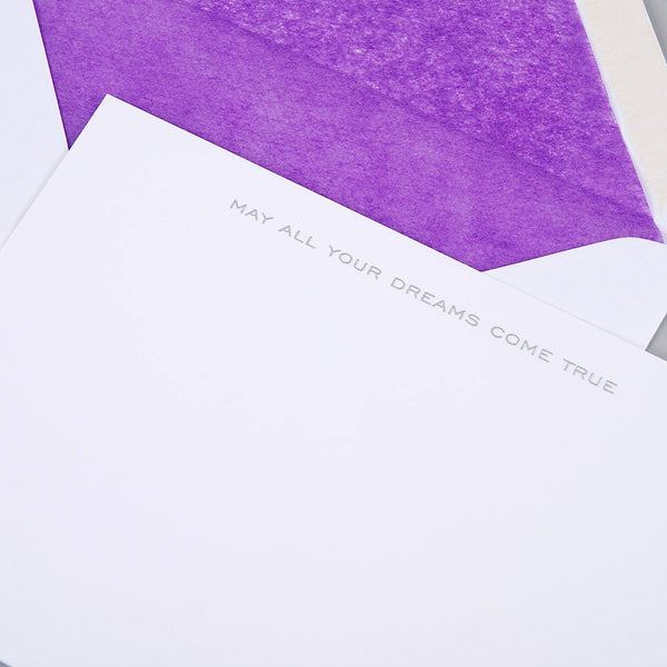 May All Your Dreams Come True Correspondence Cards