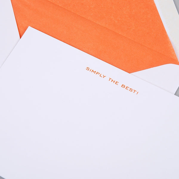 Simply the Best Correspondence Cards