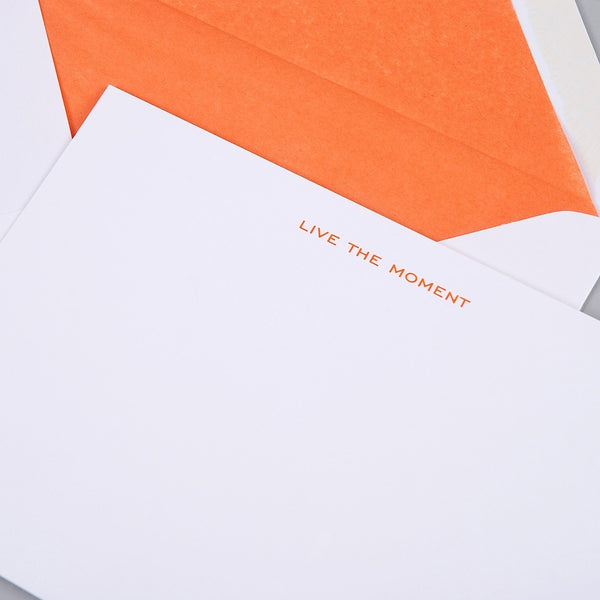 Live the Moment Correspondence Cards