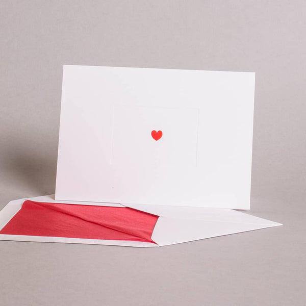 Heart on White Correspondence Cards