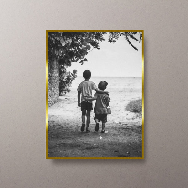 Frame Gold Foil Border Portrait