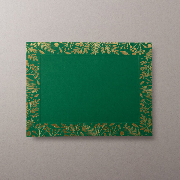 Christmas Wreath Photo Mount Cards- Green