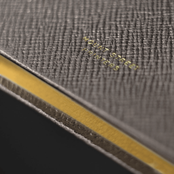 Gunmetal Leather Notebook - Personalised