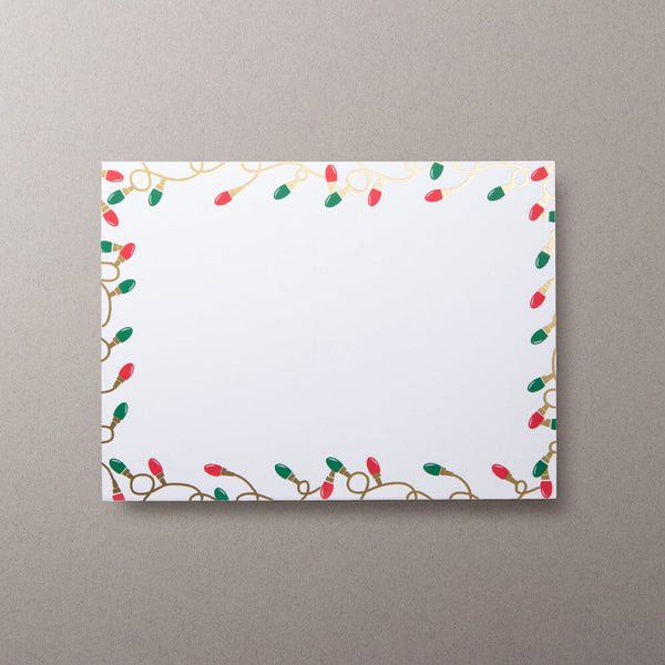 Christmas Lights Photo Mount Cards