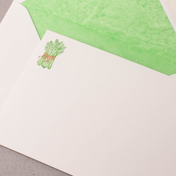 Asparagus Single Correspondence Cards