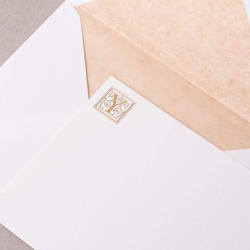 Ornate Capital Correspondence Cards
