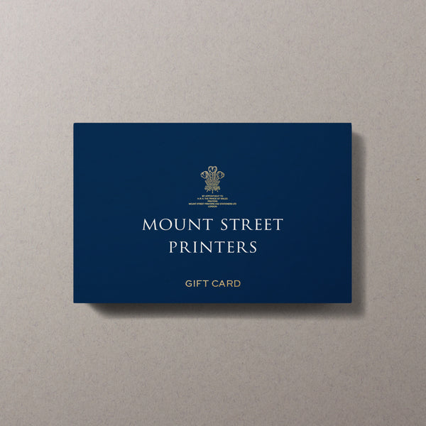 Mount Street Printers Gift Card