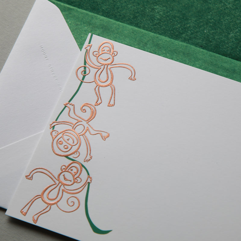 Three Monkeys Correspondence Cards