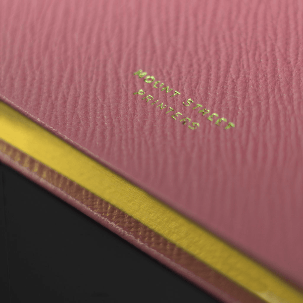 Fuchsia Leather Notebook - Personalised