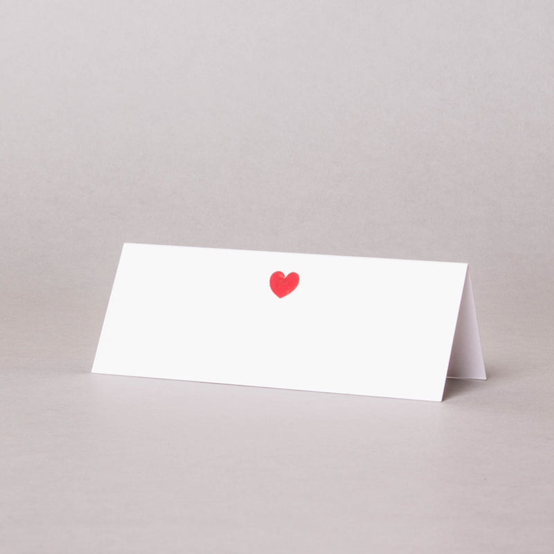 Love Heart Tented Place Card