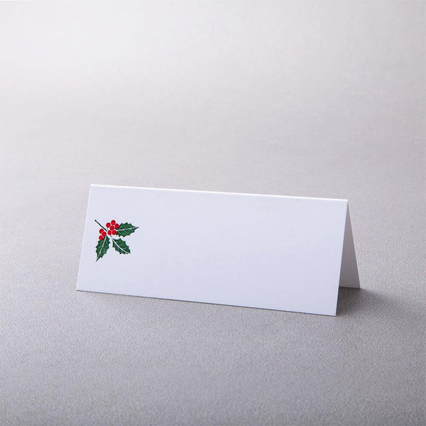 Holly Tented Place Card