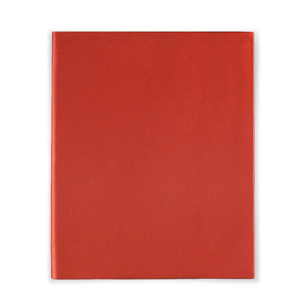 Bright Red Leather Notebook - Personalised
