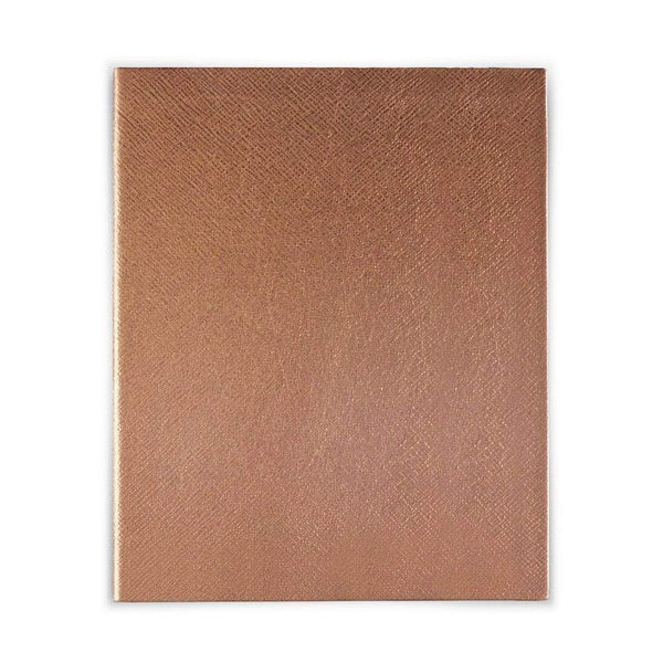 Rose Gold Leather Notebook - Personalised