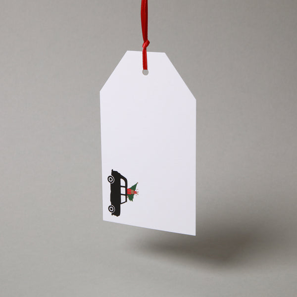 Taxi With Tree Gift Tag - Pack of 8