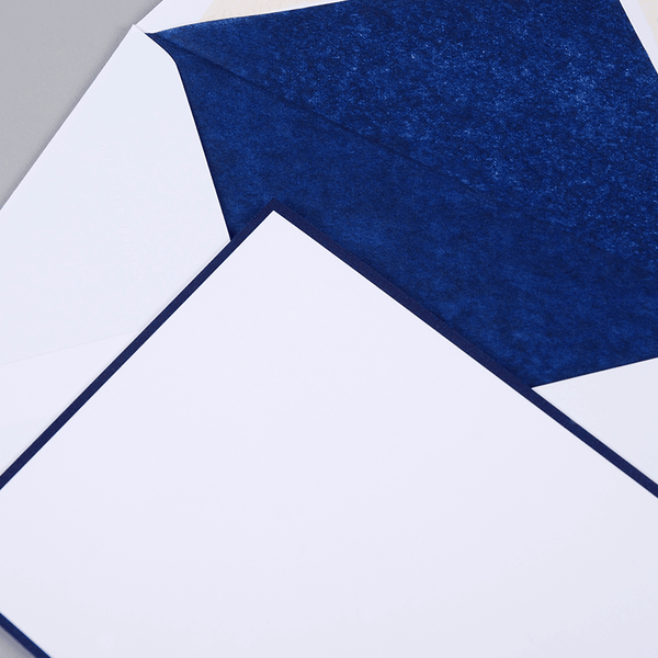 Blue Border & White Correspondence Cards