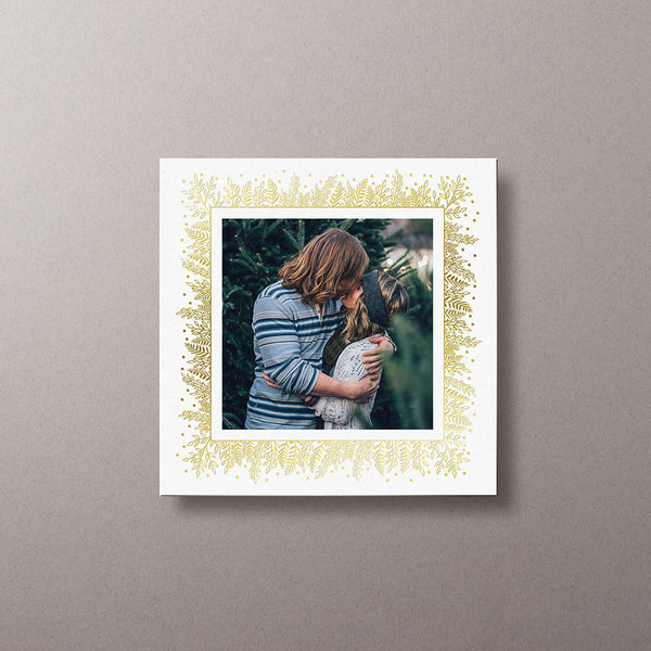 Holly Border Gold Foil Square