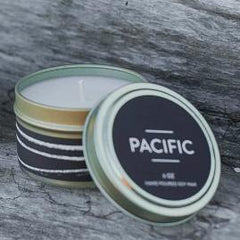 Pacific Candle by Particle Goods - soy wax candle with notes of salt water, cucumber, seagrass, driftwood, kaffir lime, kelp - Foamy Wader