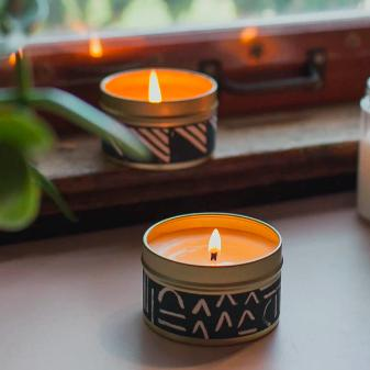 Midnight Candle by Particle Goods - soy wax candle with notes of incense smoke, oud, ambrette, lavender, dried berries, patchouli