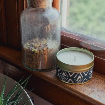 Forest Candle by Particle Goods - soy wax candle with notes of fir needle, damp earth, coriander, oakmoss, rosemary, cypress