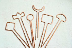 Crescent Hairpin - crescent moon silhouette hairpin in copper