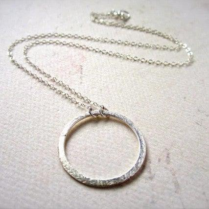 Eternity Necklace - handmade single circle eternity necklace in gold or silver - Foamy Wader