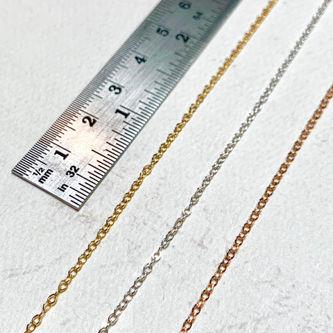 17.0 inch Chain Necklace - custom made chain necklace in gold, silver, or rose gold