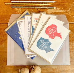 Love greeting card 6 Pack - usa made romance and anniversary cards by female artists - Foamy Wader