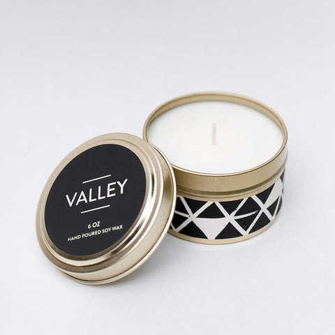 Valley Candle by Particle Goods - soy wax candle with notes of lemon zest, wild poppy, sunrise, magnolia flower, yuzu citrus