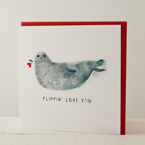 Flippin' Love You Greeting Card