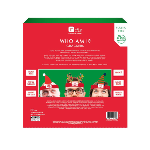 "Botanical Nutcracker Crackers Who Am I Content 12"" Pk 6"