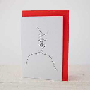 A moment on the lips - Greeting Card.