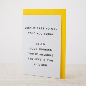 Nice Bum - Greeting Card