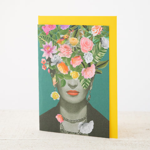 Frida-Floral Greeting Card