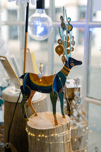 Folksy Reindeer Pop & Slot Decoration
