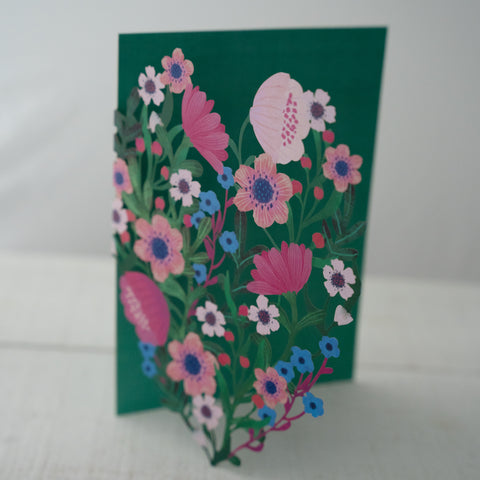 Summer Forrest Laser Cut Card