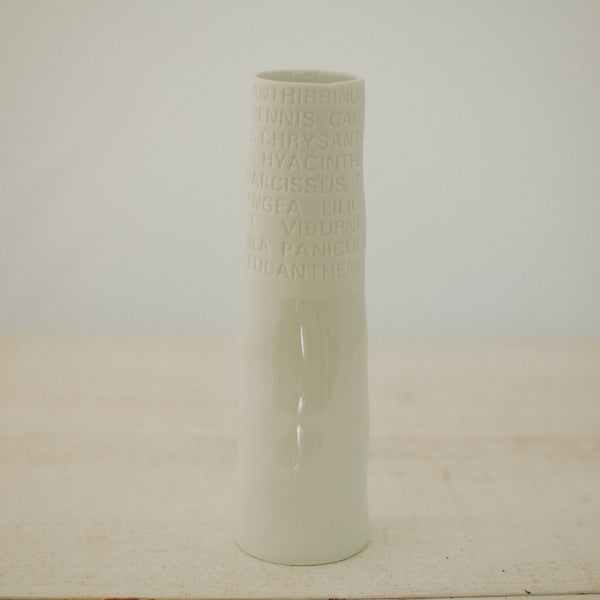 Poetic porcelain vase