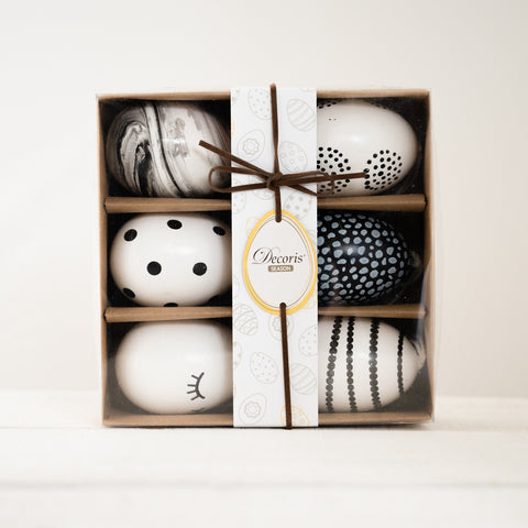 Gift Boxed Foam eggs 6 assorted