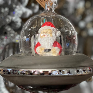 Retro decoration - Santa flying saucer