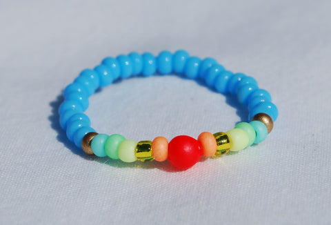 Neon Ring - Sky Blue/Rainbow